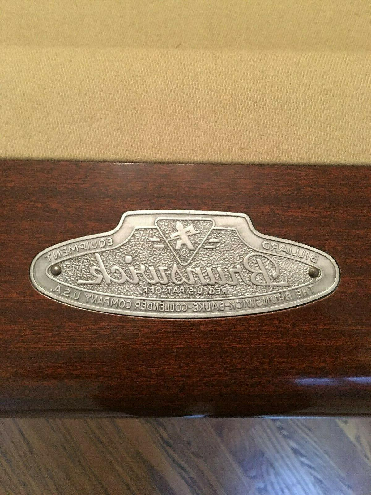 Brunswick Restored 8 foot Anniversary pool table