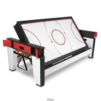 Rotating Air Hockey To Billiards Pool Table With-Cues Rack C
