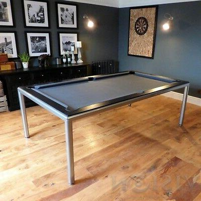 Metallic 8' Pool Billiard Table dining/desk table