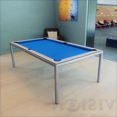 Metallic Pool Billiard Table dining/desk table