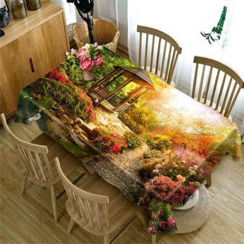 swan ladder pool 3d tablecloth table cover