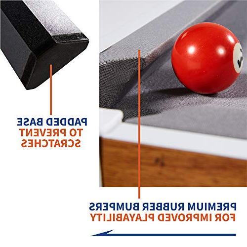 """Tabletop Table and Accessories, x 20"""" x 9"""" Mini, Travel-Size Balls, Cues, - Camping, Road"""