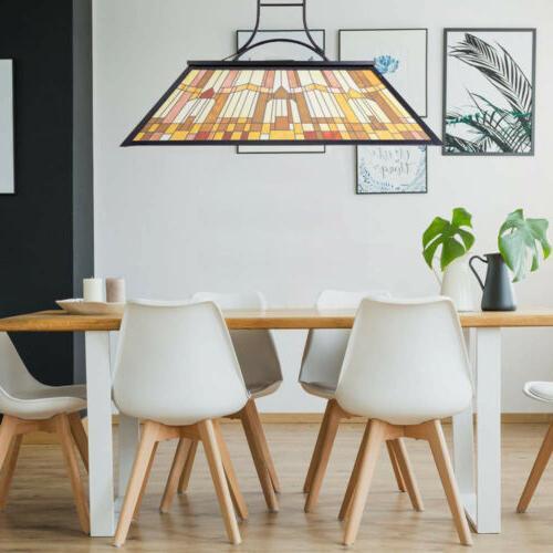 Tiffany Style Table Billiard Ceiling Fixture