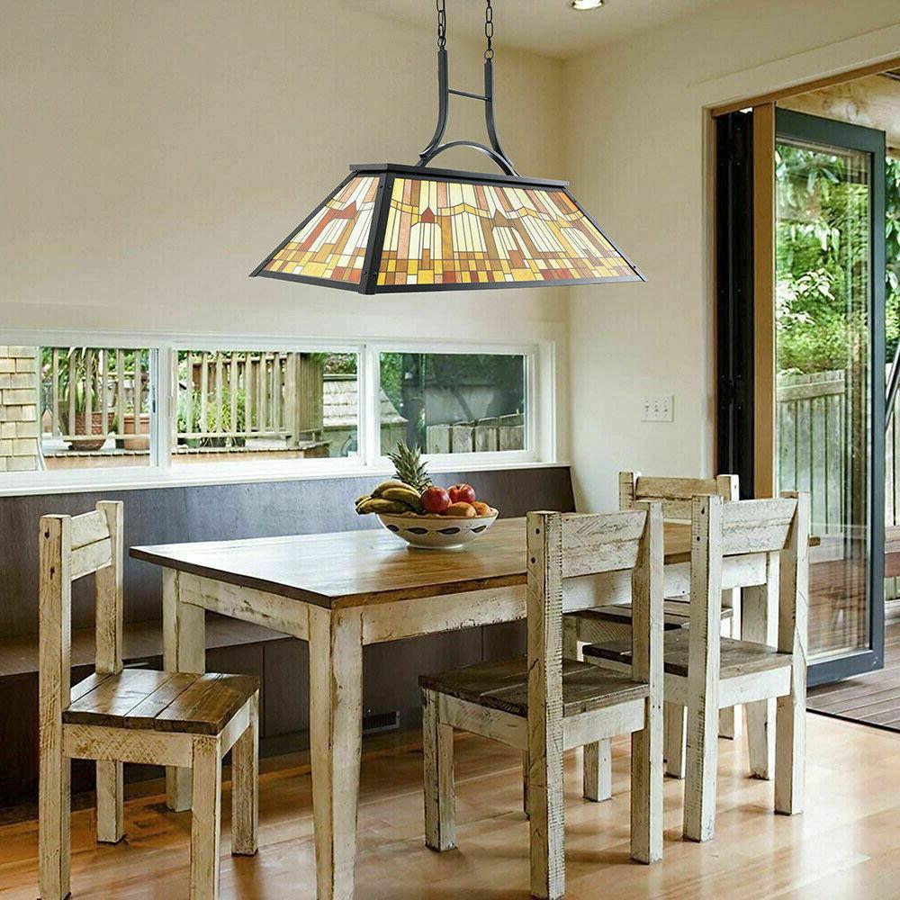 Tiffany Style Table Chandelier Billiard Ceiling Lamp