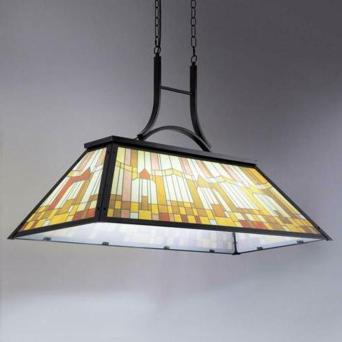 Tiffany Style Pool Table Billiard Ceiling Lamp