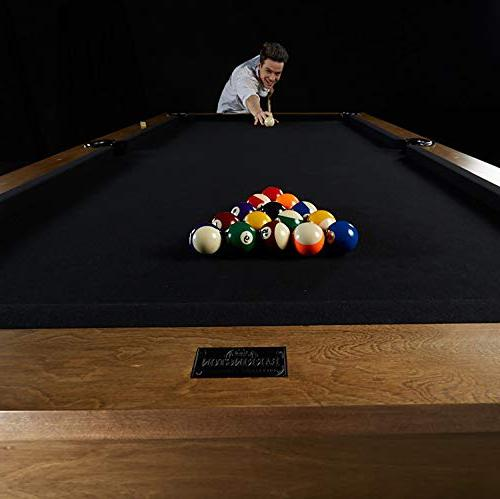 Barrington Professional Pool with 8' - Modern Wooden with Balls, Cues, Billiards Complete