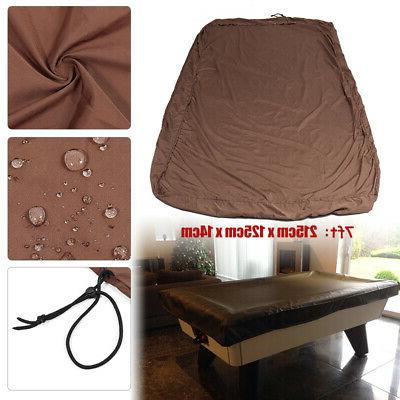US 7/8/9FT Billiard Pool Table Cover Foot Heavy Duty Fitted