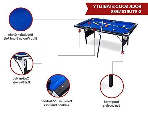 Rack Billiard/Pool Table, Accessories Set