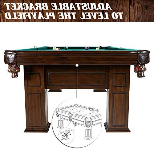 """Barrington Woodhaven Billiard Pool Table, Large, 100"""" Pool, and Game Tables for Home, Lounge, Room Durable, Professional"""