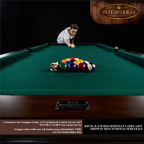 """Barrington Woodhaven Premium Billiard Pool Extra 100"""" - Wood Pool, and Snooker Tables for Home, Bar, Lounge, Durable, Professional"""