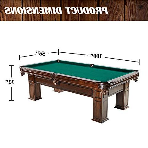 """Barrington Pool Table, 100"""" Pool, and Tables for Lounge, Room Durable, Professional Grade"""
