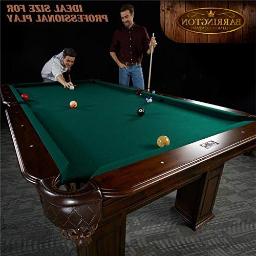 """Barrington Woodhaven Pool Table, 100"""" Billiards, Pool, Tables for Lounge, Rec Room Durable, Professional Grade"""