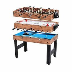 "Lancaster 48"" 3 in 1 Pool Billiard Slide Hockey Foosball Com"