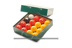 Aramith League Pool Balls - Red Yellow - 2 inch