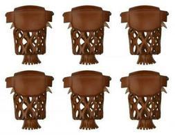 Iszy Billiards Leather Pool Table Billiard Pockets-Set of 6