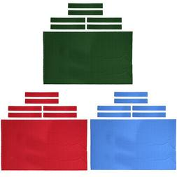 Light Wool Pool Snooker Table Cloth 6x Felt Strips for 9' Ta
