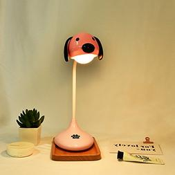 Amyove Lovely USB Charging Touch Sensor Dog Table Lamp with
