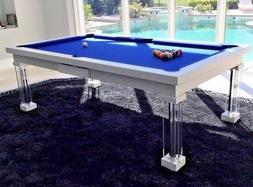 LUXURY CONVERTIBLE DINING POOL TABLE Billiard Dining Desk Fu