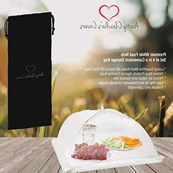 Luxury Food Nets | Pack of 4 | Easy Pop Up and Collapsible U