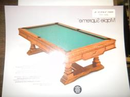 Vintage Brunswick Maple Supreme Pool Table 8x10 Advertising
