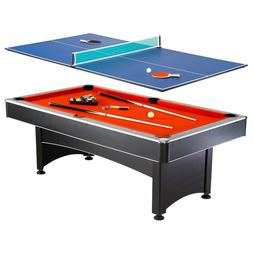 Hathaway Maverick Pool Table with Table Tennis Top, 7-ft, Re