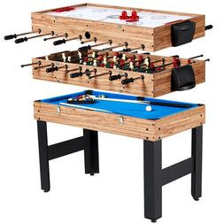 "MD Sports 48"" 3 In 1 Combo Pool, Hockey & Foosball Game Tabl"