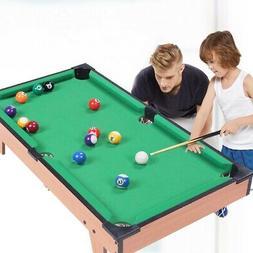 Mini Billiard Pool Table Cues Balls Home Game Room Playing C
