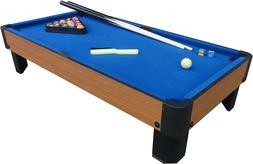MINI POOL TABLE Blue Portable Tabletop Billiard Game Set Acc