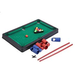 GUAngqi Mini Pool Table Game Table Top With Accessories Boar