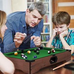 Mini Table Top Pool Table with Cues, Triangle and Chalk 1, N