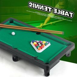 Mini Table Top Pool Table Game Billiard Cues Balls Gift Inte