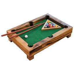 Novica Mini Tabletop Billiards Game - Wooden Portable Pool T