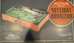 Buxton Mini Tabletop Pool Set- Billiards Game! Fun for the W