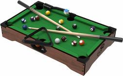 Mini Tabletop Pool Set- Billiards Game Includes Game Balls,