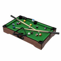 Mini Tabletop Pool Set- Billiards Game Includes Game Balls S