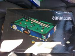 Mini Tabletop Pool Set- Billiards Game Includes Game Balls,