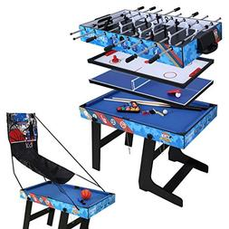 4ft Multi-Function 5 in 1 Combo Game Table- Hockey Table, Fo