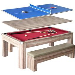 Multi-Functional Newport 7 ft. Pool Multi-Game Table Combo S