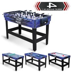 Multi Game Tables For Game Room 4-1 Combo Pool Hockey Tennis