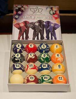 New Factory Sealed Elephant Beautiful Balls Pool Table Compl