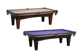 New Washington 7' or 8' Slate Pool Table in Mahogany & Antiq