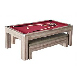 Carmelli Newport 7-Ft Pool Table Combo Set with Benches