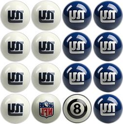 NFL New York Giants Billiards Ball Set
