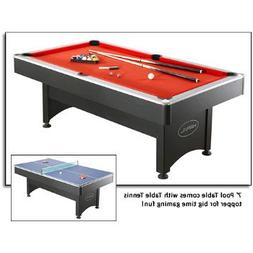 NG1023 7' Pool Table with Table Tennis Featuring an Easy Ass