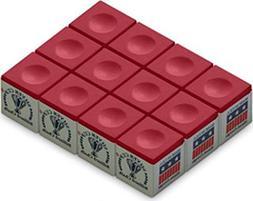 Silver Cup SC-12-RED Chalk Dozen Box, Red