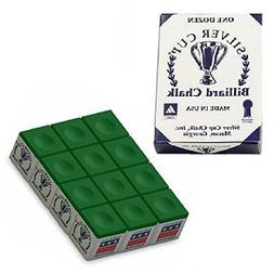 Silver Cup SC-12-TOURNAMENTGREEN Chalk Tournament Dozen Box,