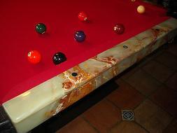 Onyx Pool Table w/8&9-ball racks, cue stand, cigar cigarette