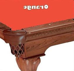 7' Orange ProLine Classic 303 Billiard Pool Table Cloth Felt