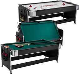 Fat Cat Original 2-in-1, 7' Pockey Game Table Billiards & Ai