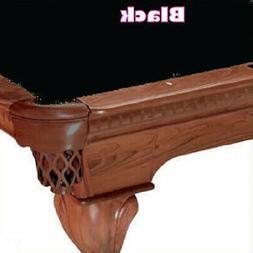 8' Oversized Simonis 760 Black Billiard Pool Table Cloth Fel